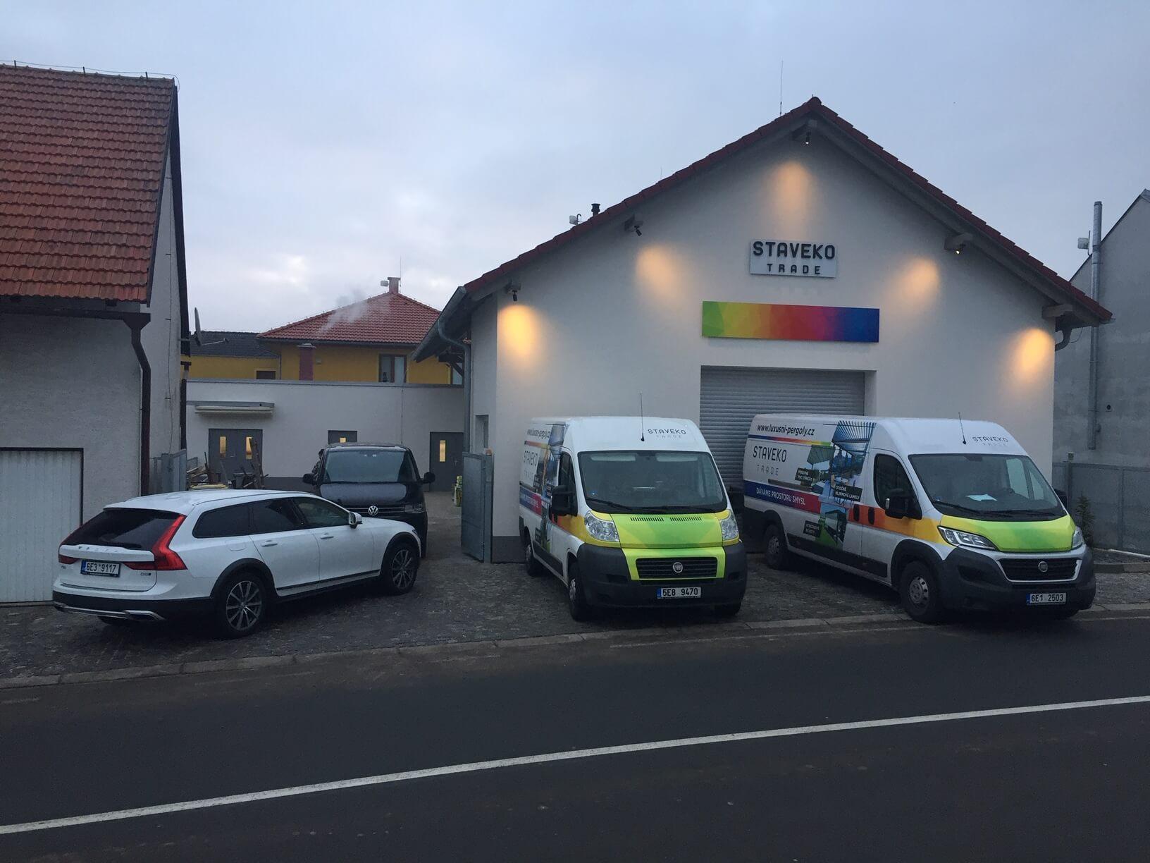 Staveko.cz - Přeprava pergol na místo realizace